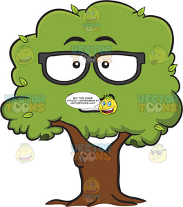 Nerd Looking Healthy Leafy Tree Wearing Eye Glasses Emoji