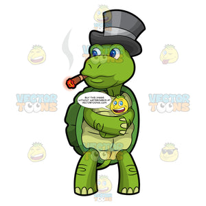 Trevor The Turtle Smokes A Cigar