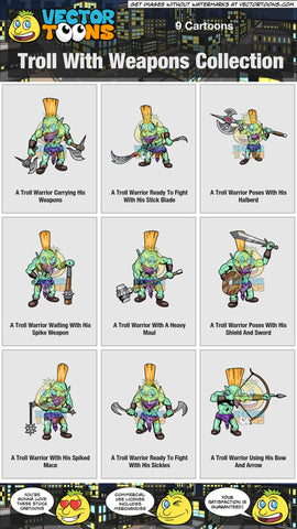 Troll With Weapons Collection