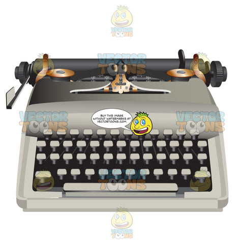 White Modern Looking Typewriter