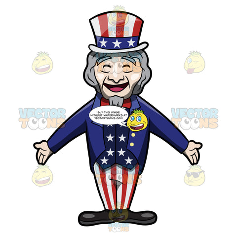 A Very Happy And Welcoming Uncle Sam