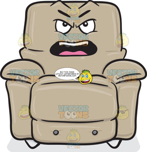 Upset And Mad Stuffed Chair Emoji
