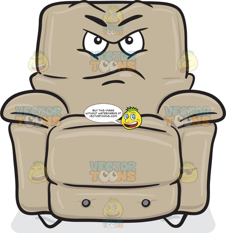 Upset And Maddened Look On Stuffed Chair Emoji