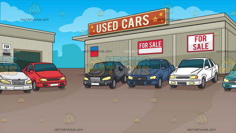 Used Car Lot Background
