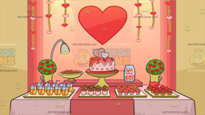 Valentines Day Buffet Background