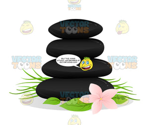 Stack Of Black Hot Rock Massage Stones