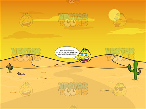 Sandy Desert Background