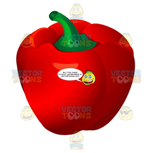 Bright Red Bell Pepper
