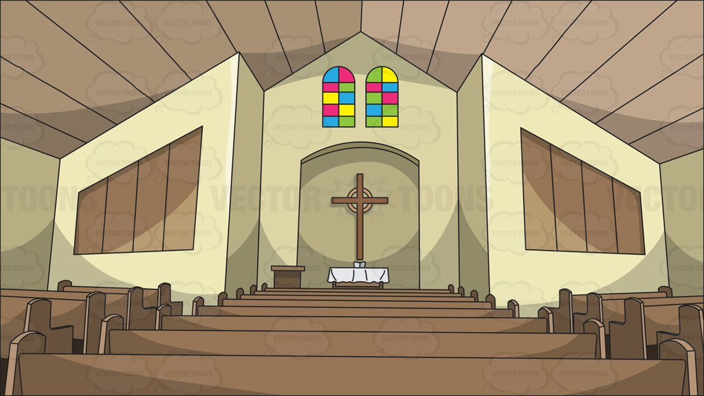 View Of The Church Altar Background