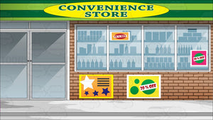 View Of The Downtown Convenience Store