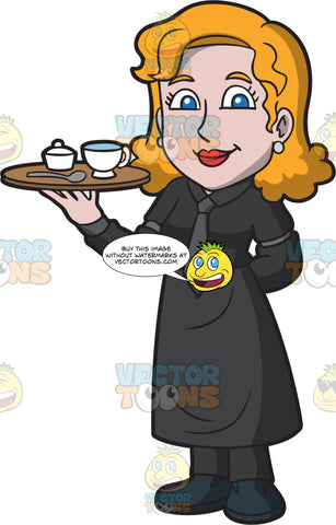 A Waitress Serving Coffee