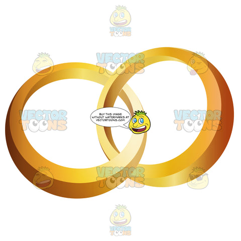 Two Gold Rings Interlocked