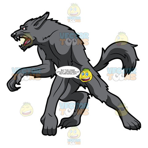 A Tough Gray Werewolf