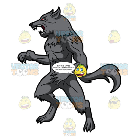 A Shocked Werewolf Reacts With A Growl