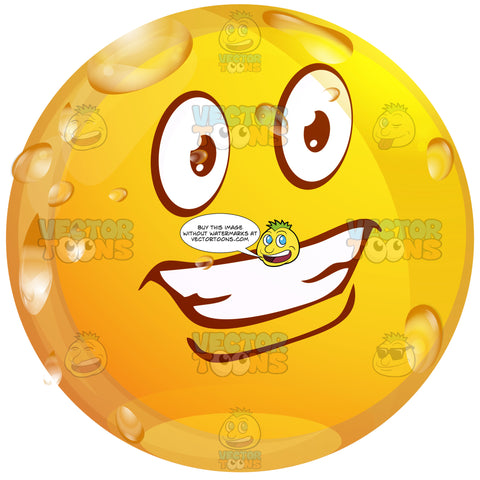 Handsome Hollywood Smile Smiling Wet Yellow Smiley Face Emoticon