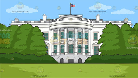 White House South Lawn Background