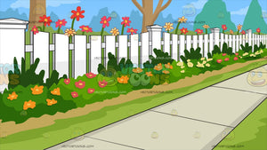 White Picket Fence Background