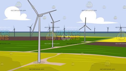 Wind Energy Farm Background