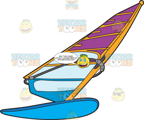 A Tilted Windsurf Board And Sail