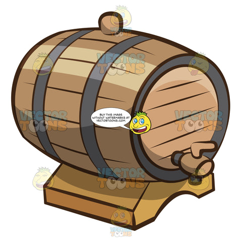A Wooden Barrel For Wine Storage