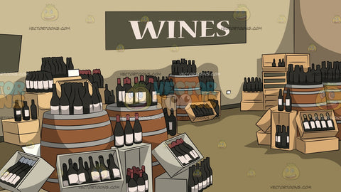 Wine Store Background