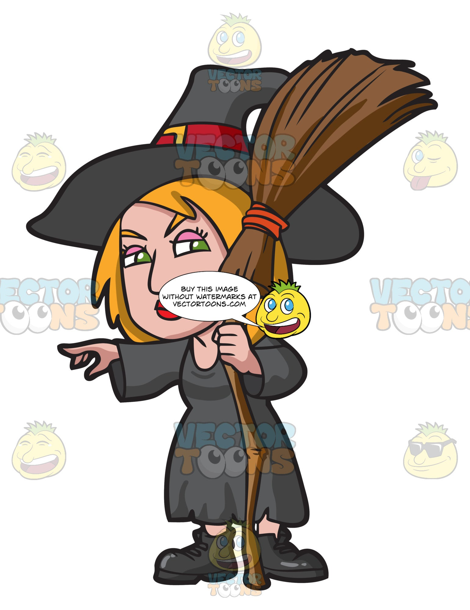 A Witch Pointing At Something