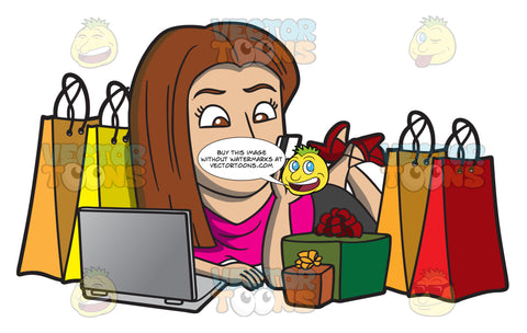 A Shopaholic Woman Doing Some More Online Shopping