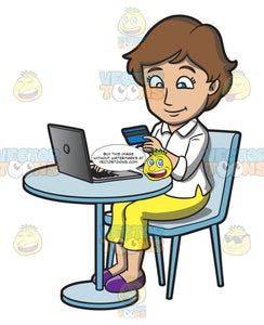 A Woman Paying For Her Online Purchases