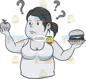 Woman Figuring Out What To Eat