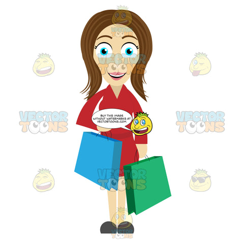 Woman Looking Happy After Shopping