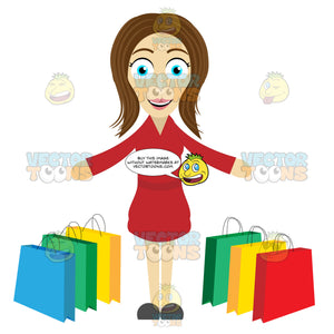 Woman Looking Satisfied After A Shopping Spree