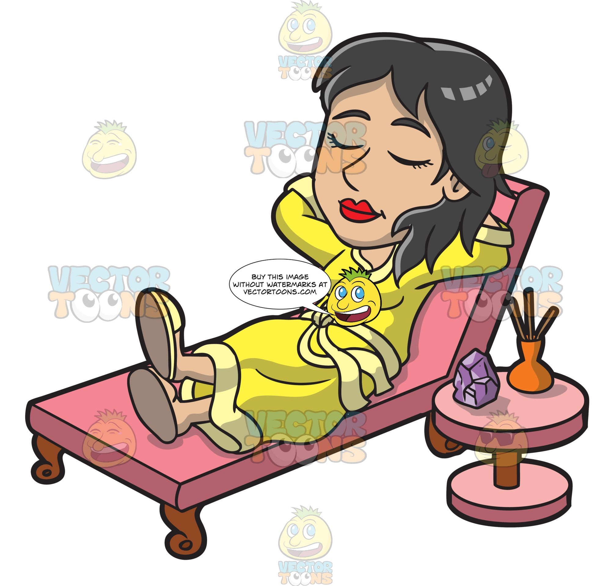 A Woman Relaxing Inside The Spa