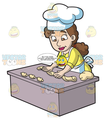 A Woman Baking Croissants