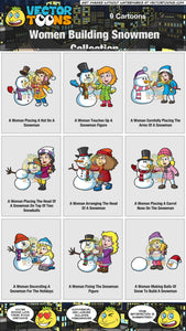 Women Building Snowmen Collection