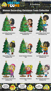 Women Decorating Christmas Trees Collection