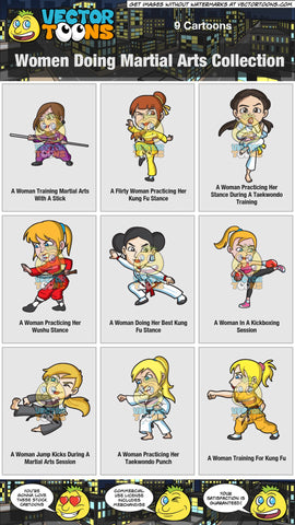 Women Doing Martial Arts Collection