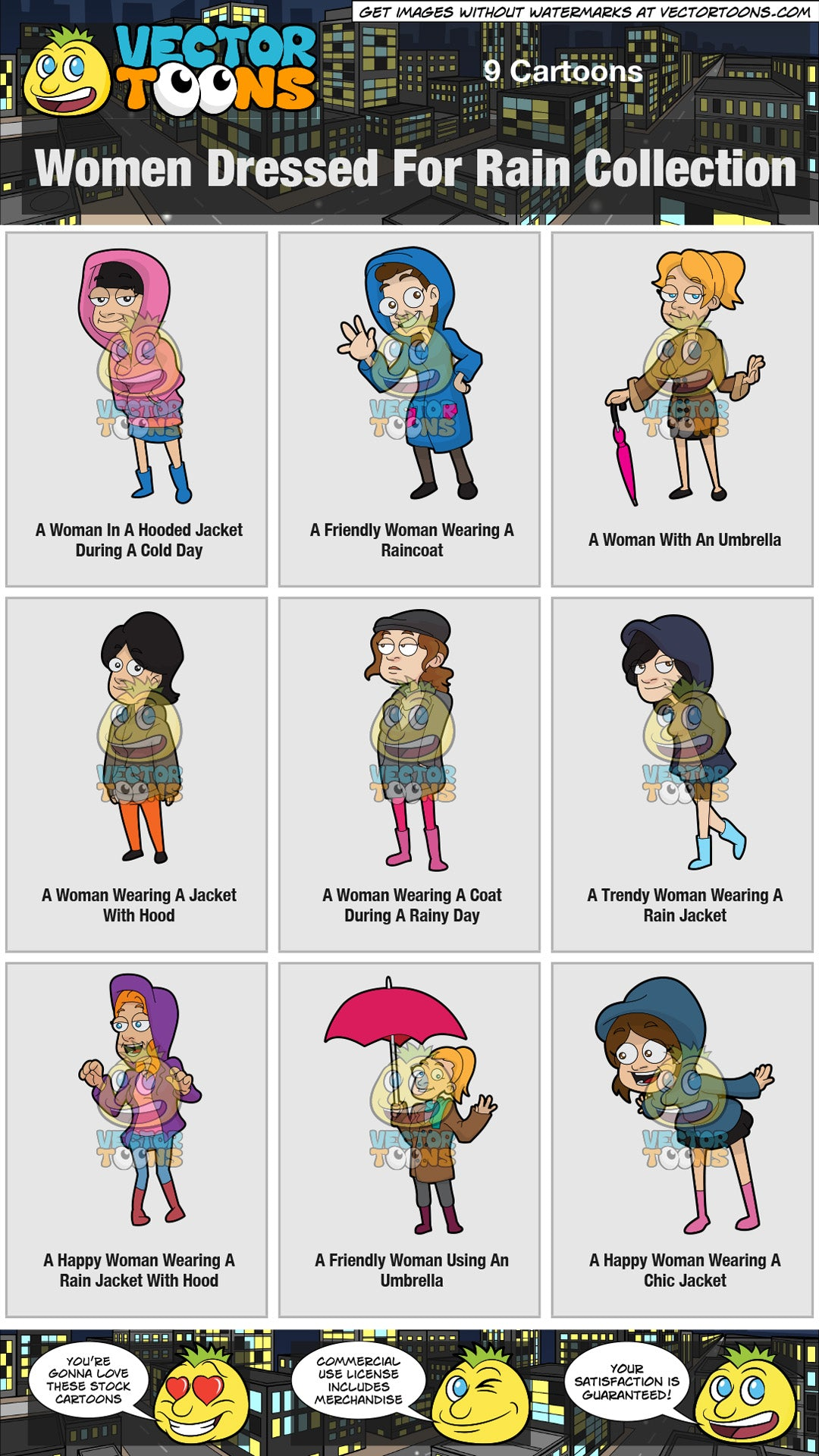 Women Dressed For Rain Collection