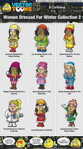 Women Dressed For Winter Collection 2