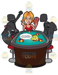 A Woman Losing A Poker Game