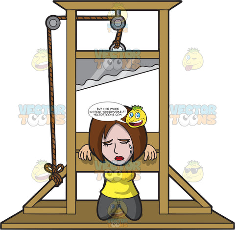 A Woman Sentenced To Death In A Guillotine