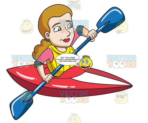A Woman Excited For Her Kayak Adventure