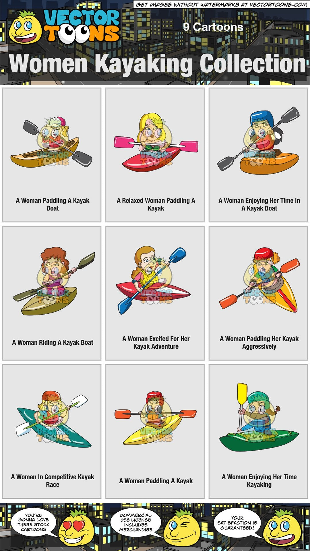 Women Kayaking Collection