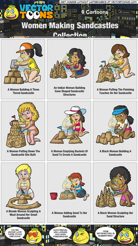 Women Making Sandcastles Collection