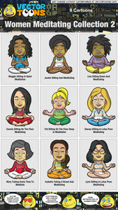 Women Meditating Collection 2