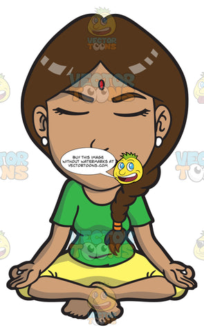 An Indian Woman In Meditation