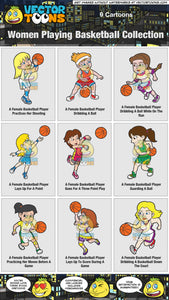 Women Playing Basketball Collection
