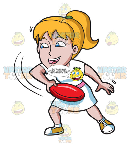 A Woman Swings Her Arm In Anticipation Of Throwing A Frisbee