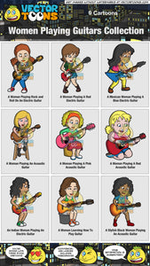 Women Playing Guitars Collection