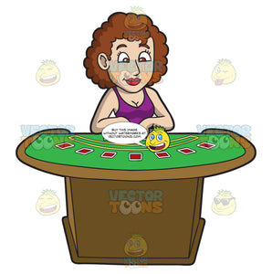 An Eager Woman Playing Poker