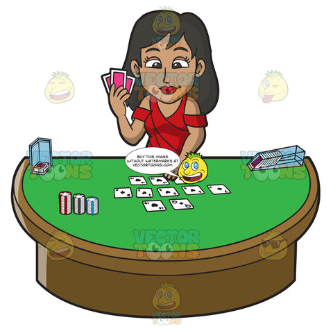 A Sexy Woman Playing Poker